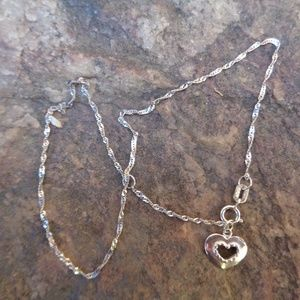 10k white gold Baby necklace with tiny charm